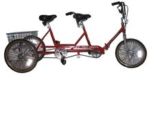Folding tandem tricycle