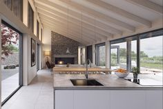 John Pardey Architects' (JPA) design for a million contemporary farmhouse in rural Somerset has won planning permission Metal Building Homes, Building A House, Barn Conversion Interiors, Contemporary Barn, Contemporary Architecture, House Architecture, Modern Barn House, Timber House, Log Home Plans