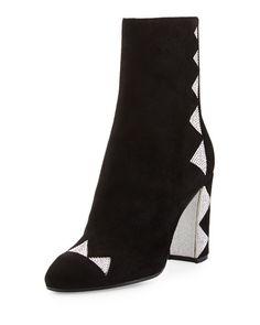Rene Caovilla Crystal-Embellished Satin Ankle Boot 4e9c326154e5