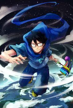 Imagen de john, homestuck, and blue - - Homestuck John, Davekat, Sailor Mars, Sailor Venus, Team Rocket, Super Smash Bros, Digimon, Cool Art, Pikachu