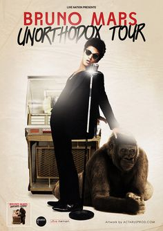Bruno mars,unorthodox jukebox i lovee you Bruno Mars Tour, Unorthodox Jukebox, Tour Posters, Celebs, Celebrities, Good Music, Album Covers, I Movie, Sexy Men