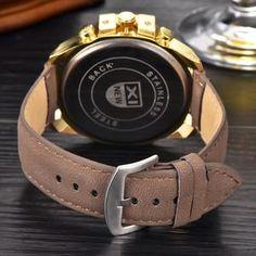 Males Quartz Wristwatch Leather Strap