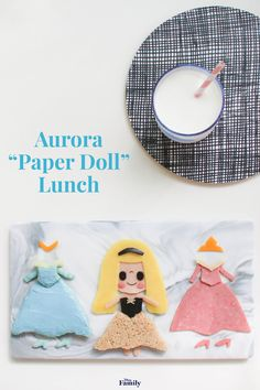 "Pink or blue? No need to decide with this Aurora ""Paper Doll"" Lunch — complete with both dresses for Sleeping Beauty. Disney Diy, Disney Food, Disney Desserts, Disney Recipes, Disney Stuff, Shoe Cakes, Purse Cakes, Pink And Blue Dress, Camo Wedding Cakes"