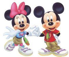 Mickey & Minnie Hold Hands: