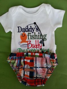Baby boy gift set. Daddy's fishing buddy!