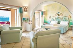 Resort Valle dell'Erica Thalasso & SPA***** (Sardegna, Italy)  #interiordesign #design #summer #DelphinaHotel #luxury #Hotel #vacanza #family #Resort #suite #bedroom