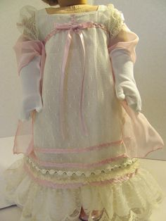1812 Regency Dress,  Wrap, Gloves,  American Girl Doll Clothes