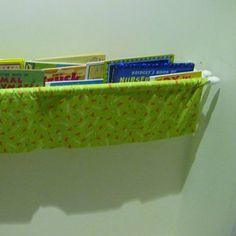 DIY Fabric Bookshelf