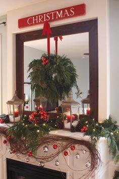 amazing Christmas Mantle