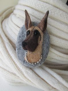 reserve for Melody.Needle felted brooch dog.Needle felted brooch.Wool felt brooch.Gift ideas.Animal miniature