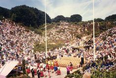 America in Denmark: the annual Fourth of July celebration at Rebild Park, Jylland peninsula.  © Judith Sylte, 1984.