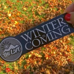 The leaves have fallen, which only means one thing... Winter is Coming!! ❄️⛄️❄️ . . #stickers #stickerslap #stickerdesign #graphicdesign #guerillamarketing #marketingtools #marketingsocial #marketingplan #stickerporn #sticker #stickerbomb #instaart #branding #designinspiration #streetart #instagood #photooftheday #stickerlove #stickerlife #marketing #smallbiz #winter #gameofthrones #theloft #ski #snowboard #foliage #snow