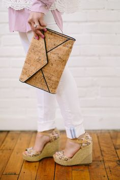 Southern Tide Clutch and Denim