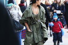Military chic parka
