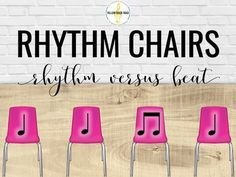 Kids love the rhythm chairs game, and it's great for teaching rhythm versus beat. This post includes great tips for teaching the game and making it work for any elementary music classroom. Music Lessons For Kids, Singing Lessons, Singing Tips, Singing Games, Elementary Music Lessons, Elementary Schools, Learn Singing, Middle School Music, Music Beats