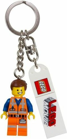 ALL 3 THE LEGO MOVIE Key Chains - Emmet 850894, Wyldstyle 850895 & Bad Cop 850