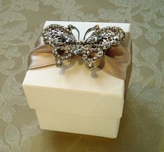 Captivating Butterfly Decorated Wedding by QuillsWeddingFavours, £3.50 www.quillsweddingstationery.co.uk https://www.facebook.com/pages/Quills-Wedding-Stationery/278003989009997