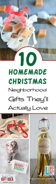 Cheap, but cute homemade neighbor gifts that they will LOVE!  Great ideas that are out of the box!