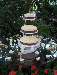 Cheesecake Wedding Cake -  an idea for a grooms cake since he is demanding Cheesecake!