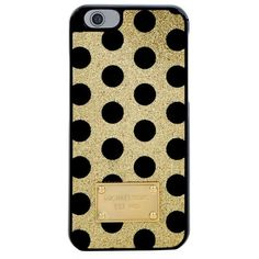 Michael Kors iPhone 6 Glitter Dot Snap-On Case ($68) ❤ liked on Polyvore featuring accessories, tech accessories and michael kors