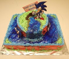 Pict of Sonic the Hedgehog Cake Sonic The Hedgehog Cake, Cute Hedgehog, Decorate Your Own Cake, Nutella Chocolate Cake, Funny Cake Toppers, Hedgehog Birthday, Best Peanut Butter, Custom Wedding Cake Toppers, Gift Cake