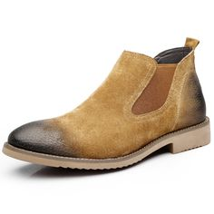 f60a605dc01 US 52.76 - Men Leather Slip Resistant Slip On Casual Boots Irving Shoes