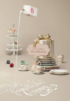 Mets de la crème: Beautiful visuals by Simon Duhamel of Nolin for this French website!