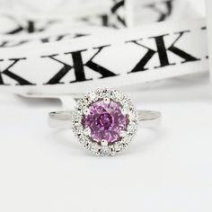 #pinksapphire#diamondhaloring#bykalfinjewellery#jewellersmelbourne#custommade#cbdjewellers#artdeco#custommaderings#cityjeweller#melbourne#giftidea#engagementringsmelbourne www.kalfin.com.au