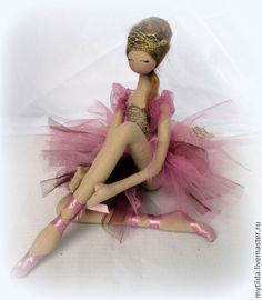 "Купить Балерина  ""Пепел Розы"" - розовый, пепельно-розовый, балерина, тряпиенс, тряпиенсы, балет, балетки"
