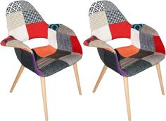 Morza Chair 2-Pack, Patchwork