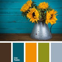 Colour scheme palette with brown, teal, orange, green and grey. A 5 colour combination Colour Pallette, Color Palate, Colour Schemes, Color Combinations, Color Palette Green, Color Concept, Green Colors, Colours, Blue Green