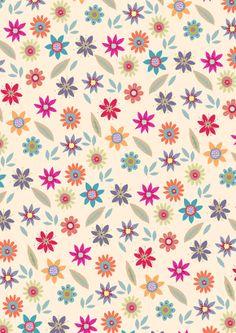Little Retro Flowers - Little Cube