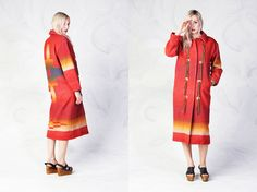 vintage WOOLRICH southwestern wool maxi coat with by foxandfawns, $148.00