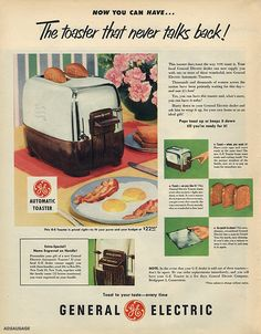 General Electric Automatic Toaster
