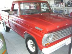 1967 Ford F-100 Pickup.  Grew up with this truck and it was the first vehicle I learned to drive.  And it was red!