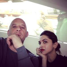 Actress Deepika Padukone's picture with Hollywood star Vin Diesel. Is she starring in the next XXX film? http://bit.ly/1NX2hHT