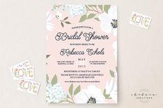Garden Blush shower invites https://www.etsy.com/listing/263575152/garden-blush-bridal-shower-invitations