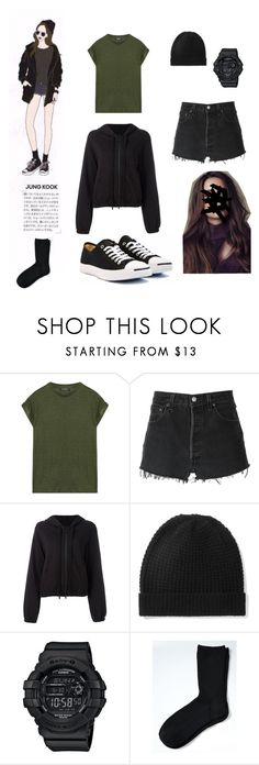 """""""BTS JUNGKOOK ideal type😜"""" by adivazy on Polyvore featuring Balmain, RE/DONE, Thom Krom, Madeleine Thompson, Baby-G and Banana Republic"""