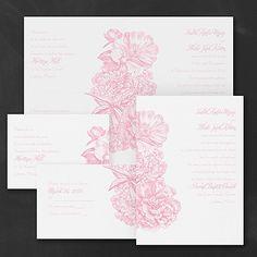 Vintage Peonies Sep 'n Send Wedding Invitation Set 40% OFF  |  http://mediaplus.carlsoncraft.com/Wedding/Wedding-Invitations/3254-TWS36266-Vintage-Peonies--Sep-n-Send-Invitation.pro