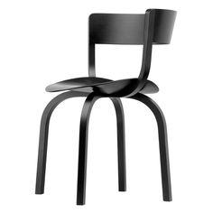 Thonet - 404 Stuhl, Buche schwarz gebeizt (TP 29) Schwarz T:51 H:78 B:49