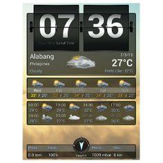 #humidity 100% #rainy #wednesday #morning #weather report #philippines #湿度 MAX #雨 #水曜日 #天気予報 #フィリピン