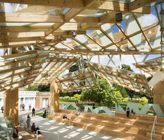 Serpentine Gallery Pavilion 2008 by Frank Gehry--managing the performance space and allowing for light