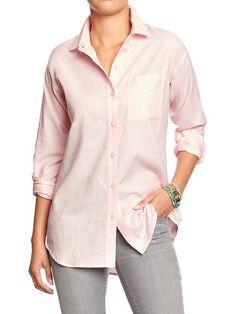 Women's Boyfriend Oxford Shirts Product Image