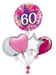 """Mark their special Birthday with a beautiful birthday """"Shocking Pink""""balloon or balloon bouquet. Lovely helium filled birthday balloons in a box from the balloon experts. 60th Birthday Balloons, Pink Birthday, 16th Birthday, Pink Balloons, Mylar Balloons, Balloon Gift, The Balloon, Balloon Delivery, Gift Bouquet"""