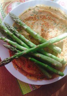 Spargel-Palatschinken Mille Crepe, Crepes, Asparagus, Dutch, Pancakes, Vegetables, Baby, Food, Leafy Salad