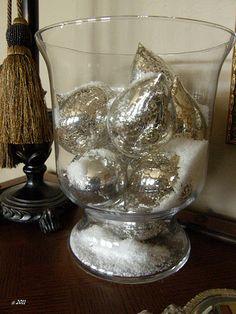I love vintage mercury glass ornaments