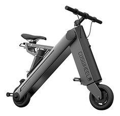 Coswheel Aone-S Smart Folding Electric Bike, Easy and Simple Fold Up Powered Scooter with 3 Ridding Mode for Adult and Kids, Space Gray *** Check this awesome product by going to the link at the image.