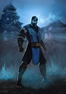Sub-Zero (Mortal Kombat) Fan Art, it was fun to paint it because It really reminds me of my old days playing Mortal Kombat game. Sub Zero Mortal Kombat, Art Mortal Kombat, Reptile Mortal Kombat, Mortal Kombat Video Game, Scorpion Mortal Kombat, Mortal Kombat Games, Mortal Kombat X Wallpapers, Kung Lao, Famous Warriors