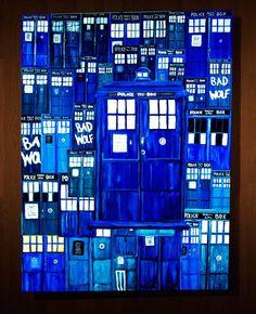 """20 Me gusta, 1 comentarios - Andy Bj (@andy_bj) en Instagram: """"Cuadro pintado a mano de la Tardis Doctor Who EN VENTA. Medidas 80x60 cm #doctorwho #tardis…"""""""