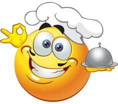 This consummate chef has just prepared a gourmet feast. Smiley Emoticon, Emoticon Faces, Funny Emoji Faces, Smiley Faces, Images Emoji, Emoji Pictures, Text Symbols, Emoji Symbols, Symbols Emoticons